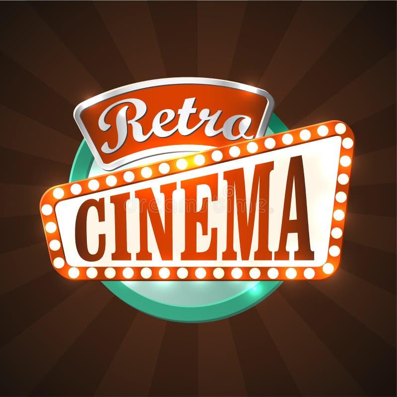 Retro cinema vector illustration