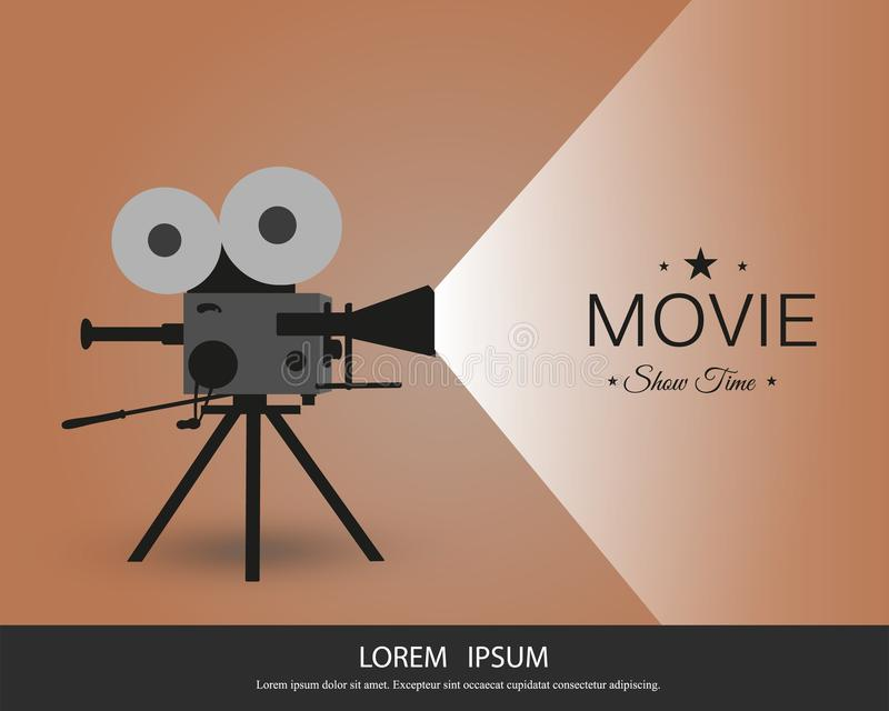 Retro cinema icon with text place, vector illustration. Retro cinema icon with text place. Vector illustration. vintage camera royalty free illustration