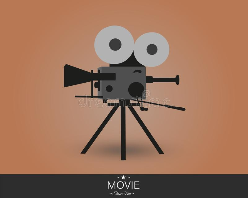 Retro cinema icon with text place, vector illustration. Retro cinema icon with text place. Vector illustration. vintage camera stock illustration