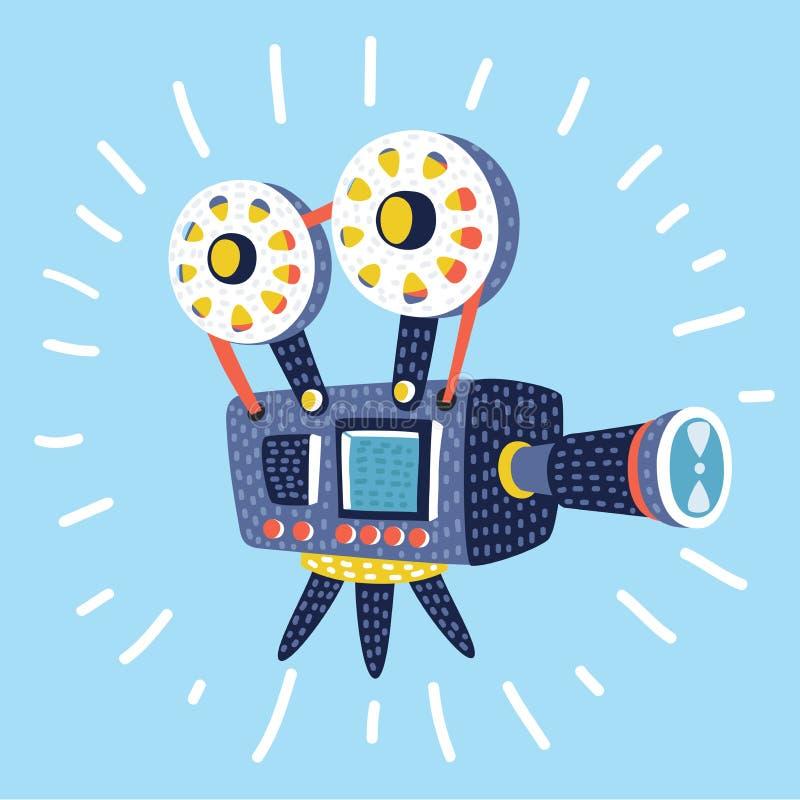 Retro cinema icon. Vector cartoon funny illustration of Retro cinema icon vector illustration