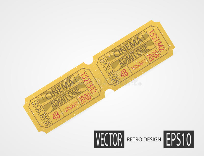Retro Cinema Tickets Design Green Stock Vector Illustration Of Coupon Event 87814136