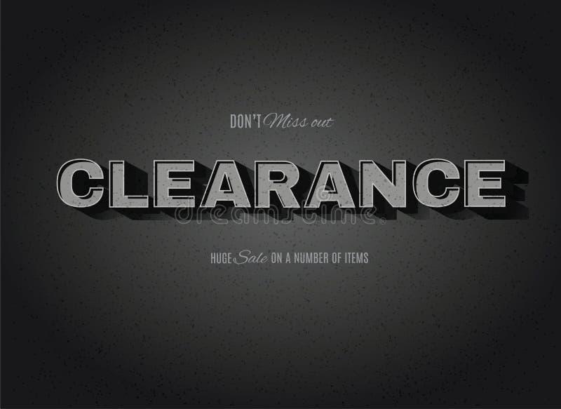 Retro Cinemas Clearance sign. Vintage movie or retro cinema text effect clearance sign royalty free illustration