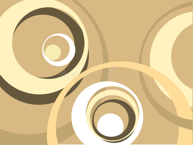 Retro circles stock illustration