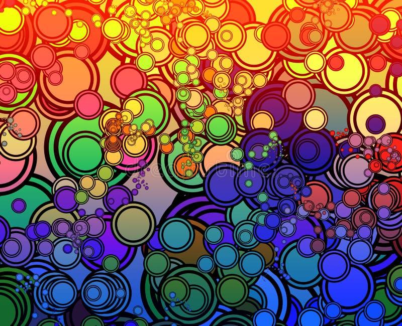 Download Retro circles stock illustration. Image of hallucinogenic - 8872585