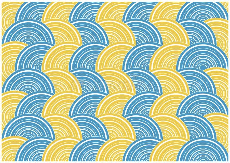 Retro circles background vector illustration