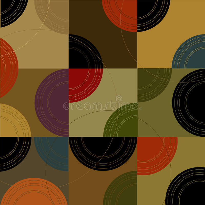 Free Retro Circles N Cubes (Vector) Stock Images - 2564724