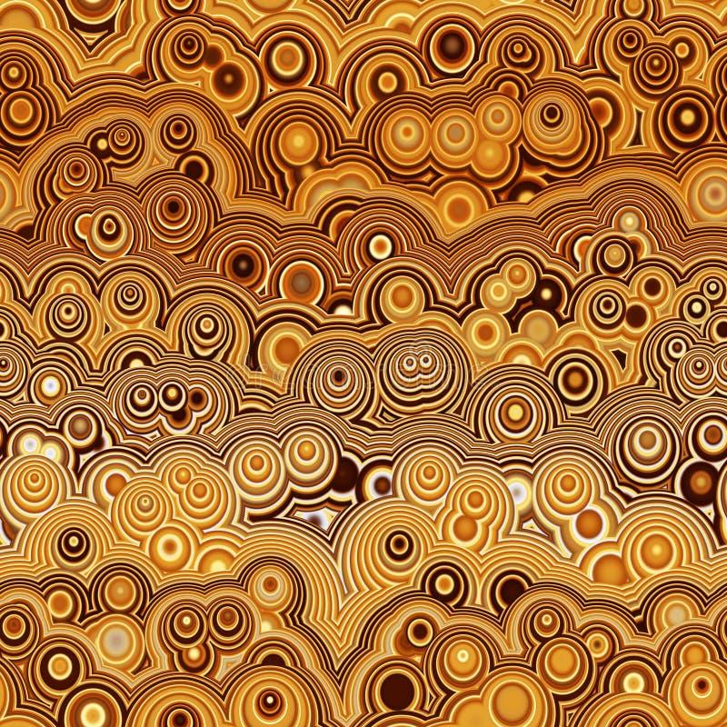 retro cirkel för brun modell stock illustrationer