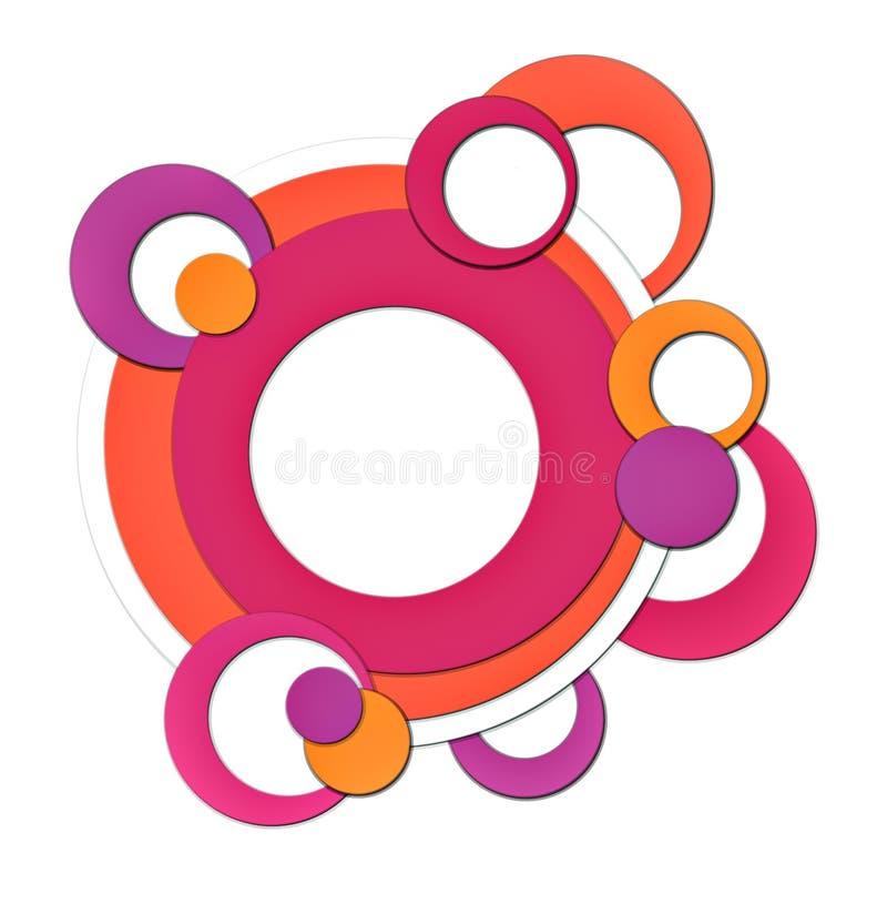 Retro cirkels stock illustratie
