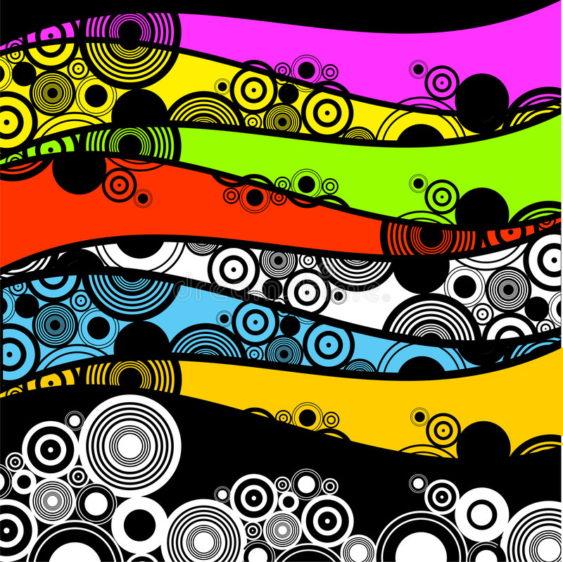 Retro cirkels vector illustratie