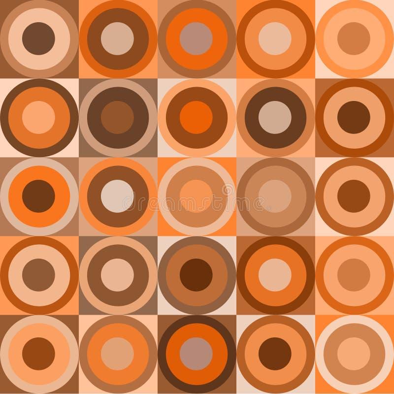 Retro cirkels en kubussen royalty-vrije illustratie