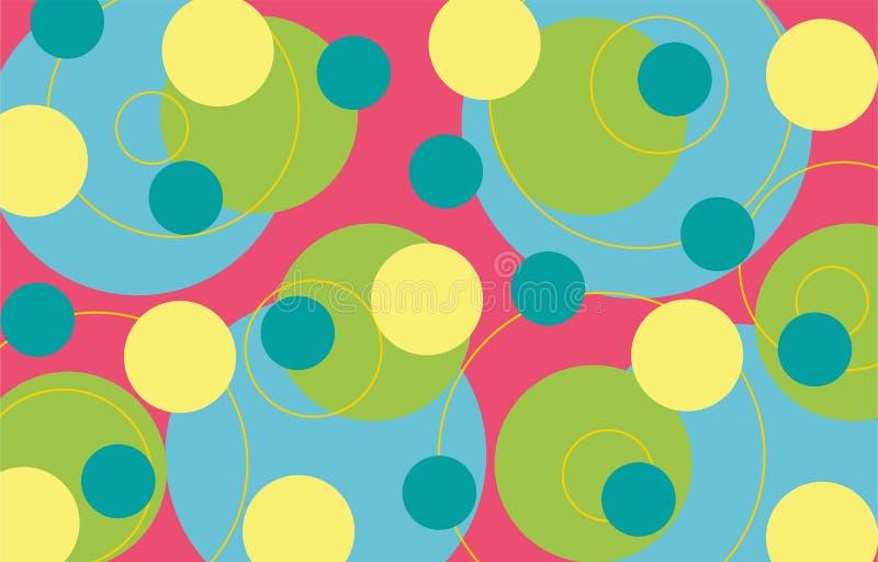 retro cirklar för limefrukt stock illustrationer