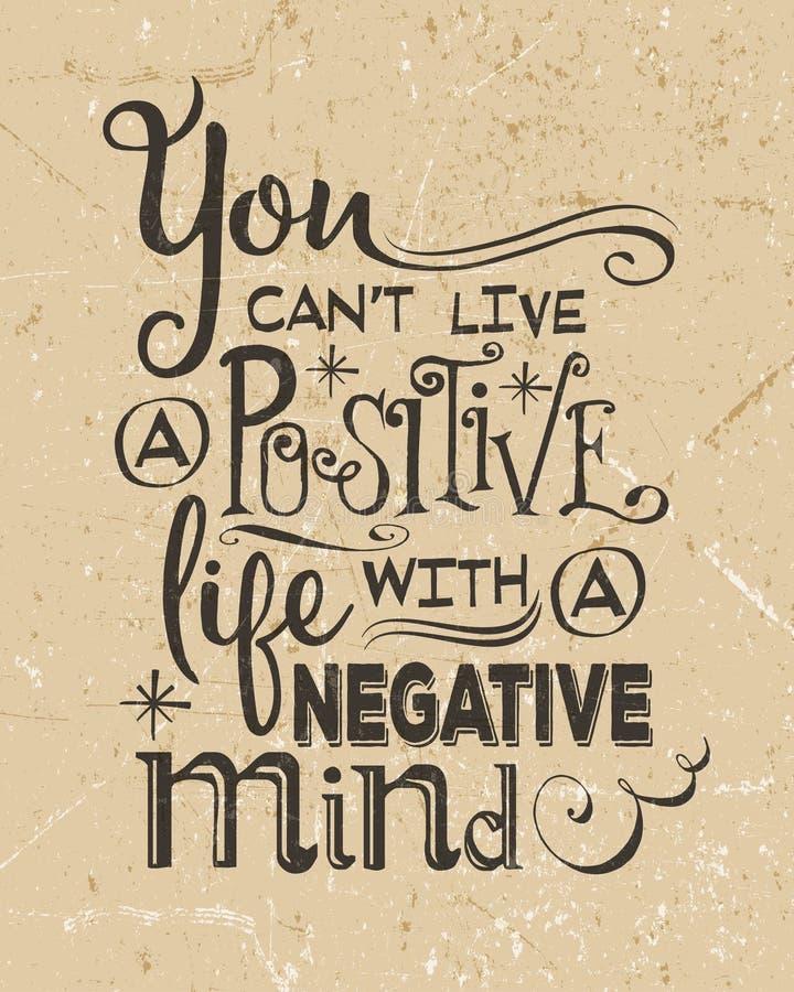 Retro citazione positiva motivazionale royalty illustrazione gratis