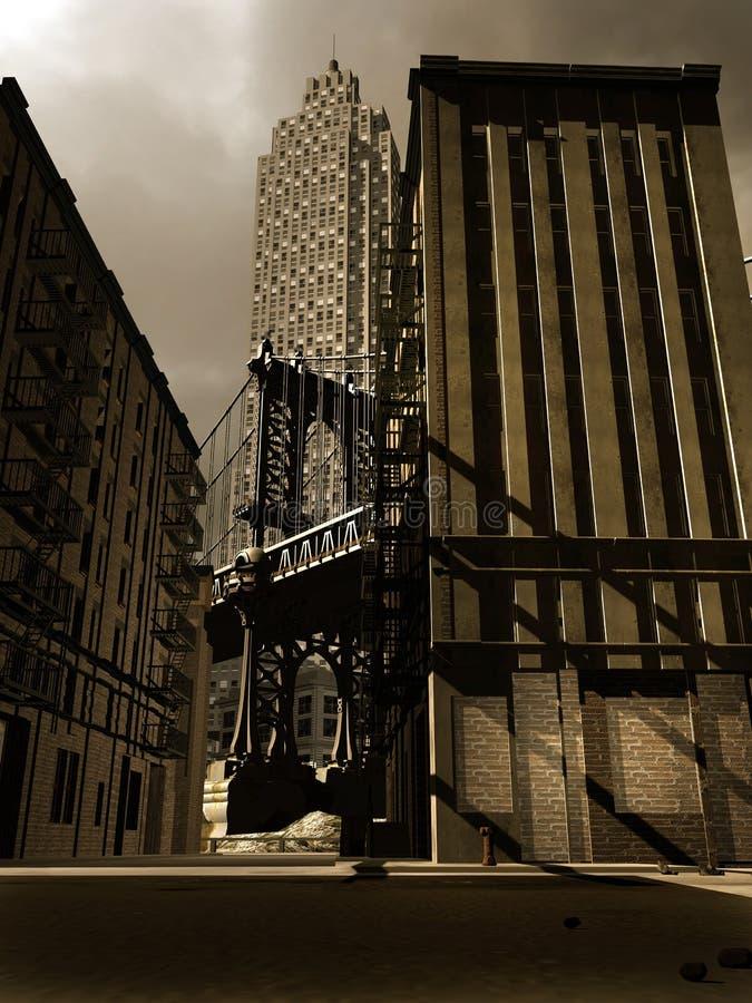 Retro city stock illustration