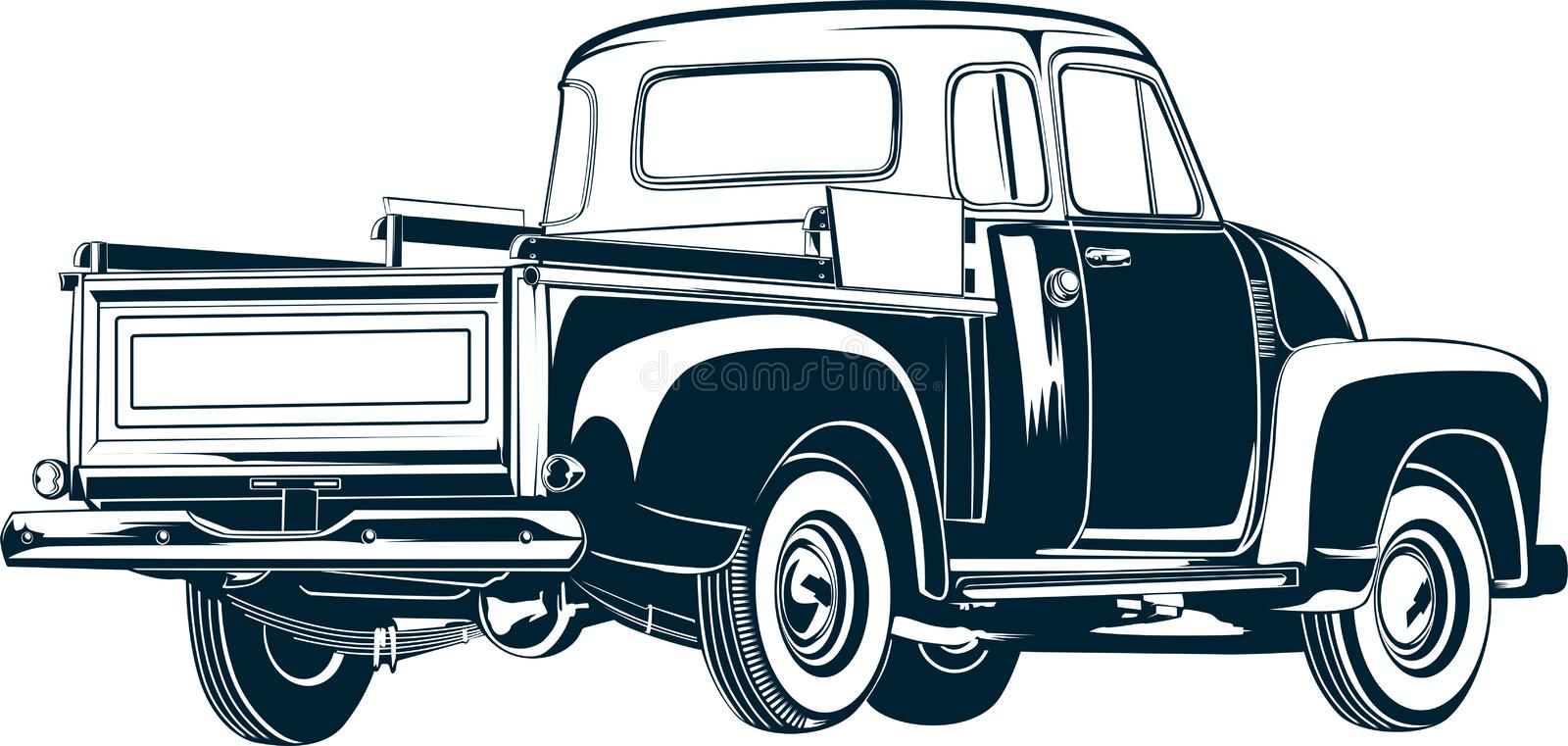 Retro clipart dell'illustrazione di vettore dell'automobile royalty illustrazione gratis