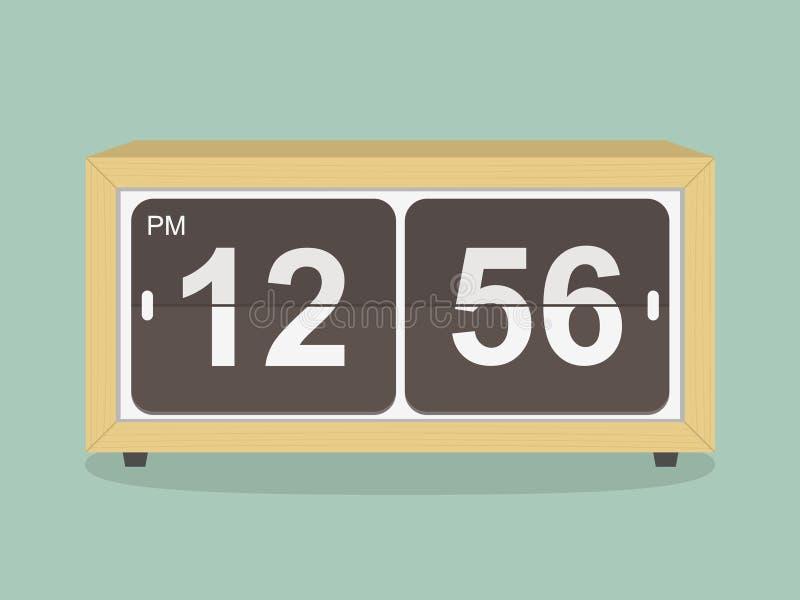 Retro clock. illustration stock illustration