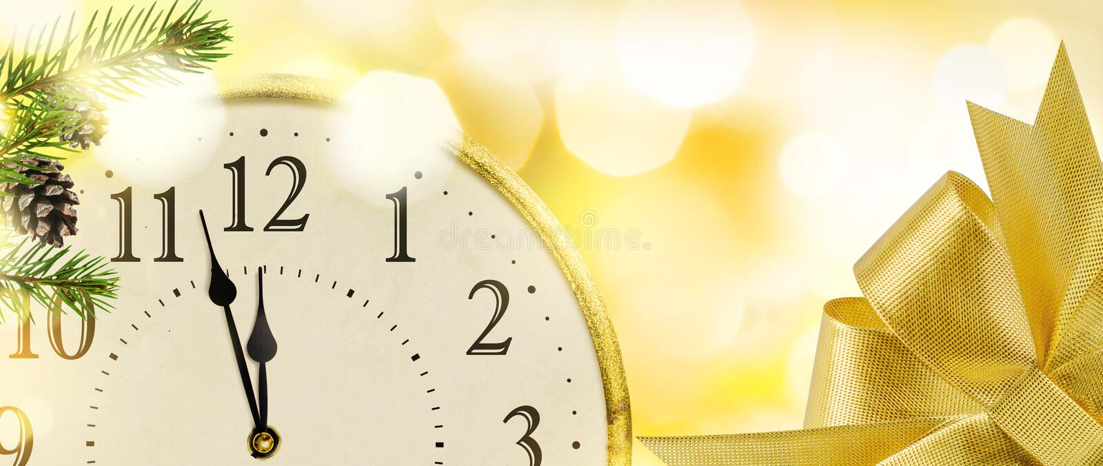 New Year`s Eve clock background. royalty free stock photography