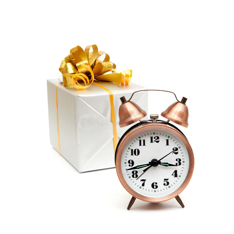 Download A Retro Clock With Presents Stock Image - Image of second, holiday: 18078613