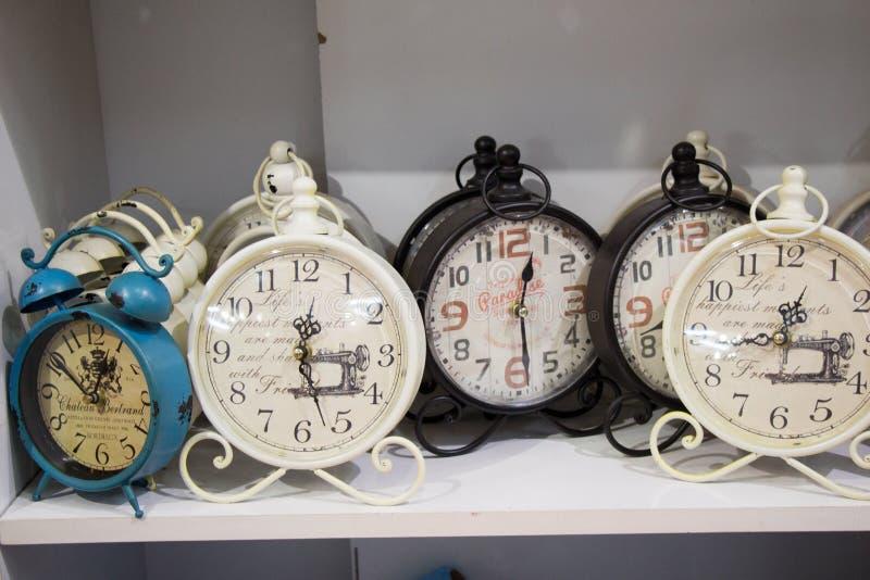 Retro clocks and mechanism stock image