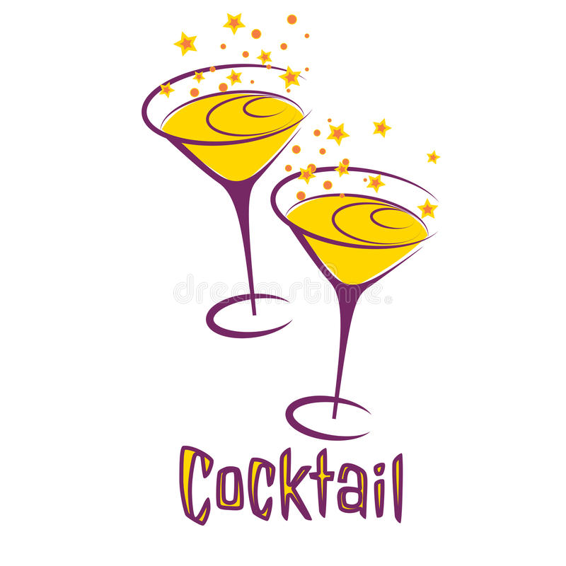 retro cocktail party card stock vector illustration of cocktail