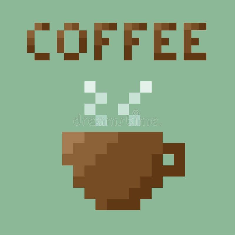 Free Retro Coffee Cup . 8 Bit Pixel Concept. Stock Image - 96992031