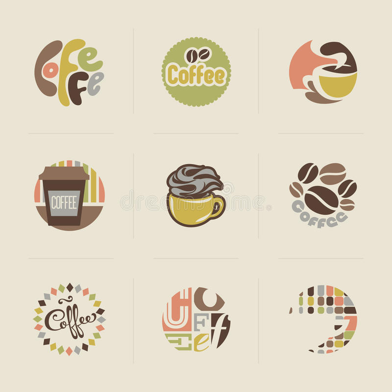 Download Retro Coffee Emblems. Set Of Vectors Stock Photos - Image: 29600783