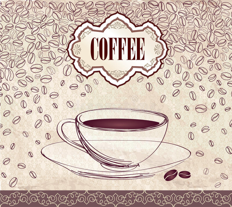Retro Coffee Label. Vector Illustration Package. royalty free illustration