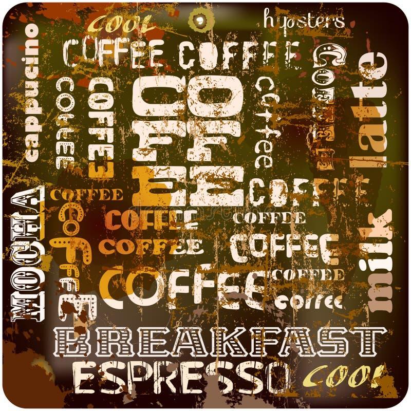 Retro coffee sign, stock illustration