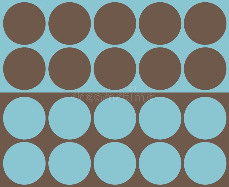 Retro collage dei cerchi illustrazione di stock