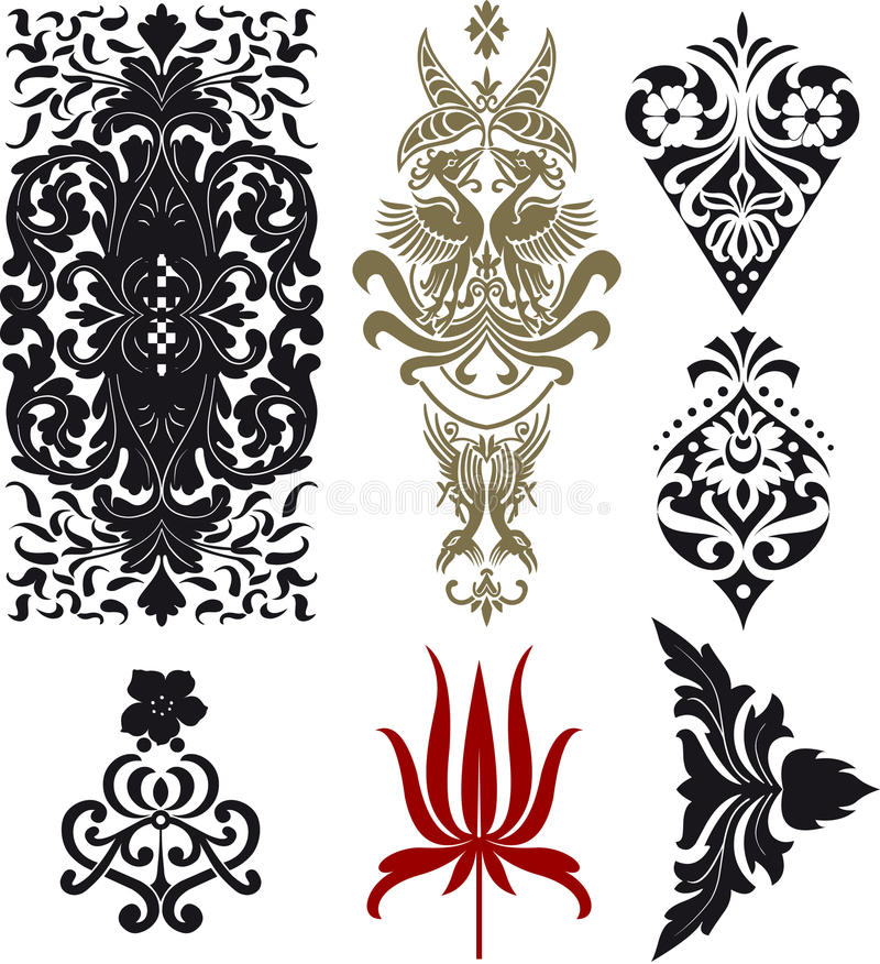 Download Retro collection stock vector. Image of decorative, paper - 24878625