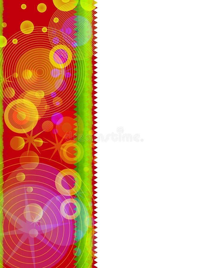 Retro colore rosso del bordo di natale illustrazione vettoriale