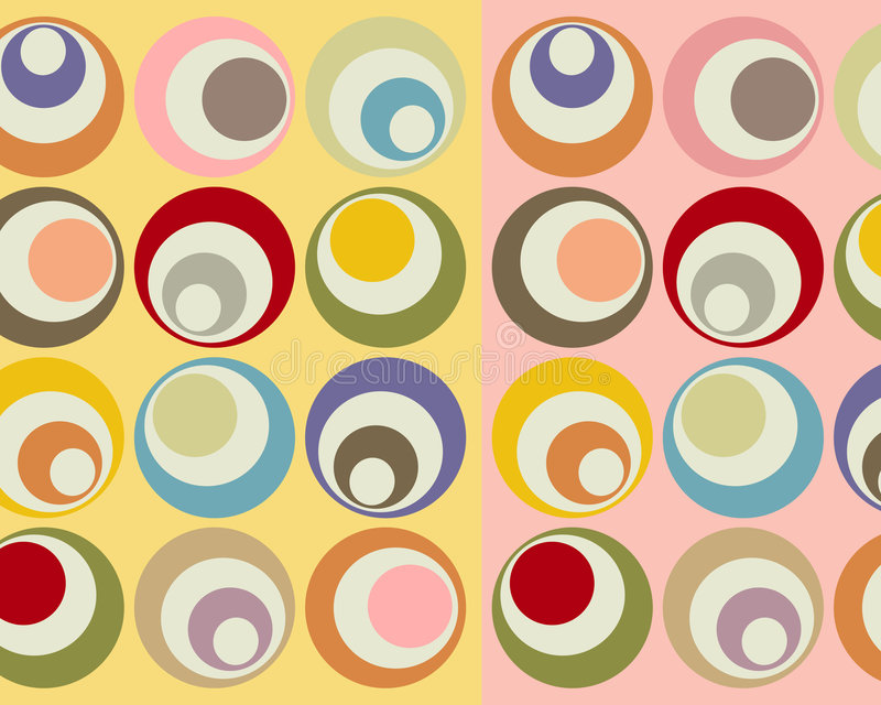 Download Retro Colorful Circles Collage Stock Illustration - Image: 3602254