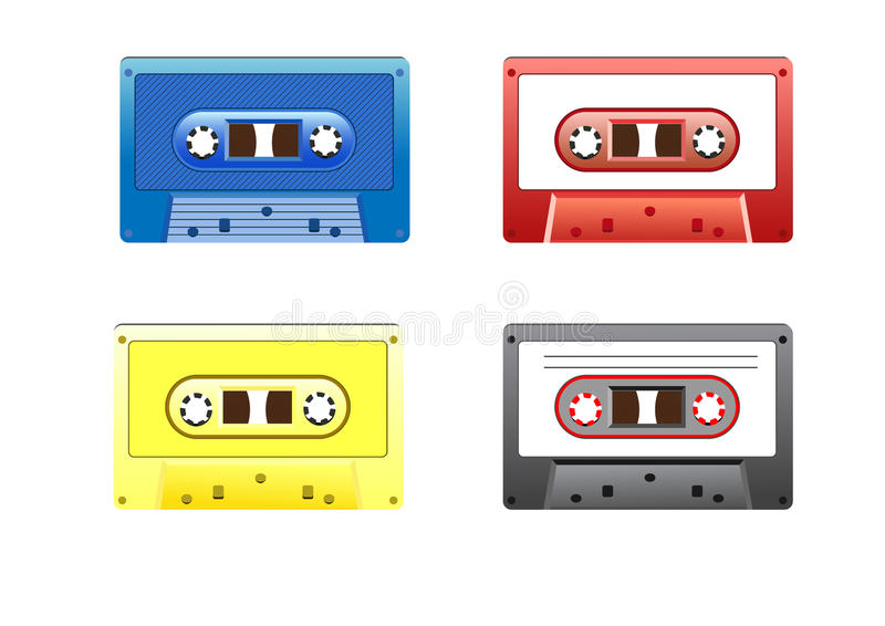 Retro Colorful Music Cassettes royalty free stock photography
