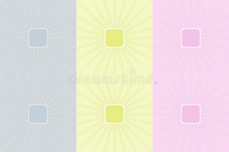 Retro colorful seamless pattern. Simple pale vector ornament for textile, prints, wallpaper, wrapping paper, web etc. Available in EPS stock illustration