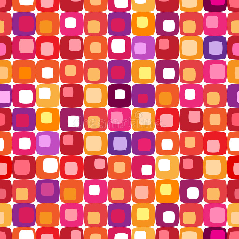Free Retro Colorful Square Pattern Royalty Free Stock Photo - 3276925
