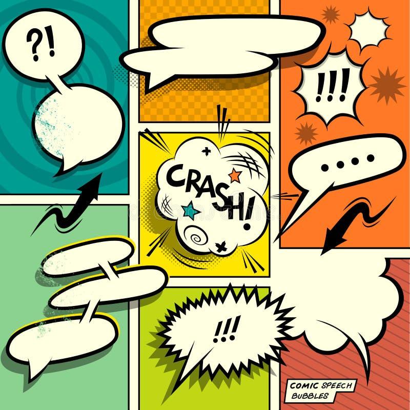 Retro Comic Speech Bubbles royalty free illustration