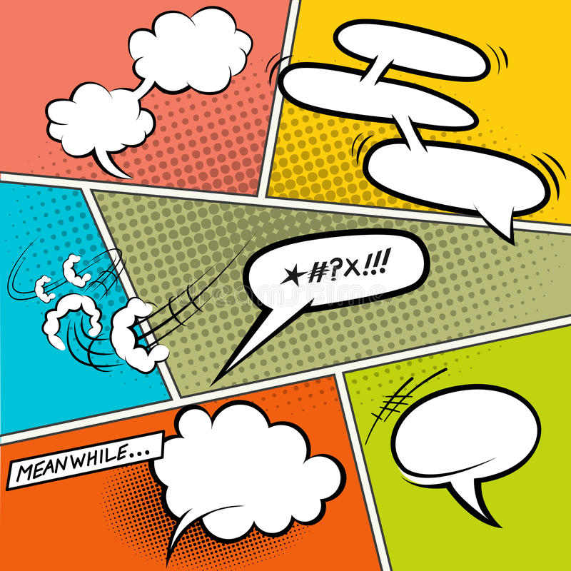Download Retro Comic Speech Bubbles stock vector. Image of element - 31707064
