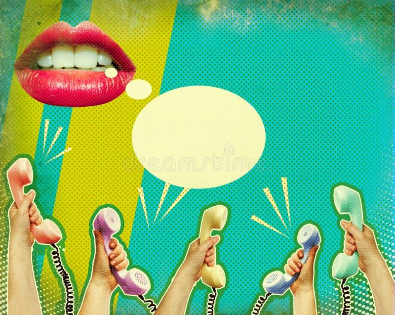 Retro communicatie affiche royalty-vrije stock afbeeldingen