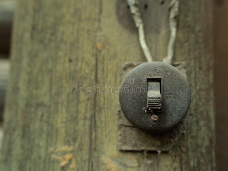 Retro commutatore elettrico fotografia stock libera da diritti