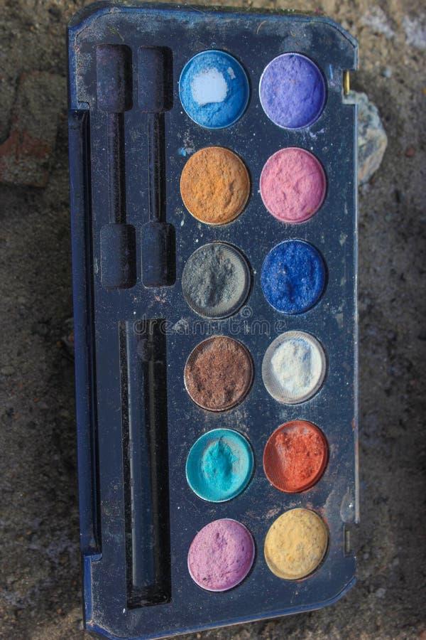 Retro componga, modo di 60s 70s, il blu, bianco, luminoso immagine stock libera da diritti