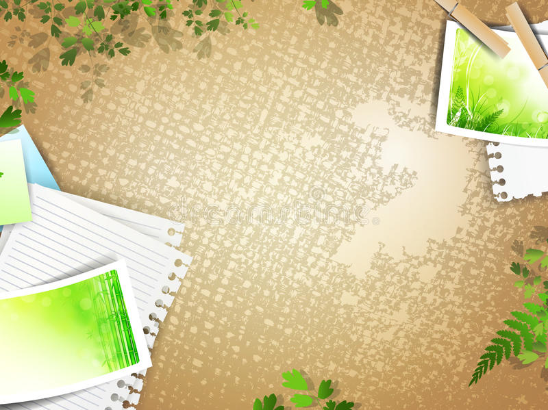 Download Retro Composition With Photos At Linen Background Stock Vector - Illustration: 20155670