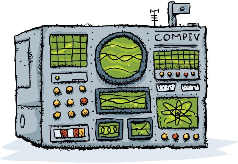 Retro computer vector illustratie