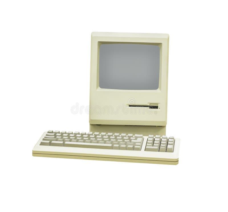 Retro- Computer lokalisiert stockbild