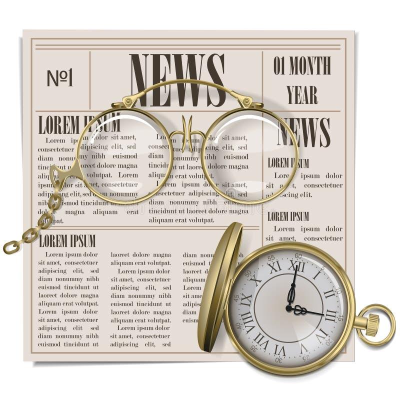Retro concetto del giornale di vettore royalty illustrazione gratis