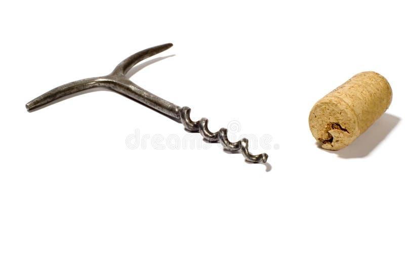 Retro corkscrew stock photography