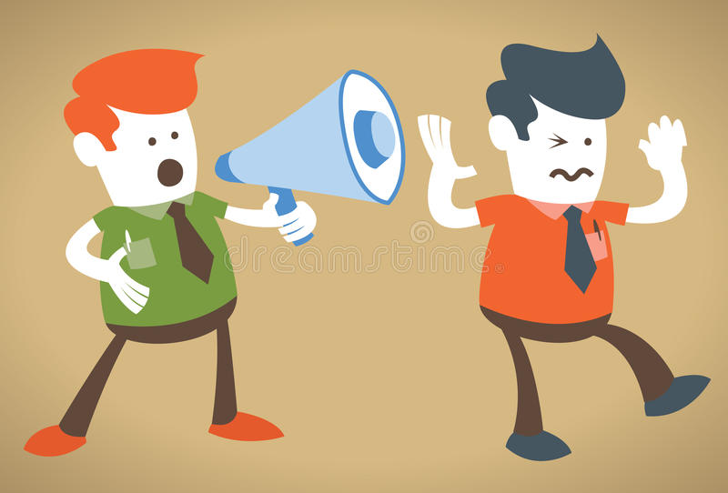Download Retro Corporate Guy Holding A Megaphone Stock Vector - Image: 23597494