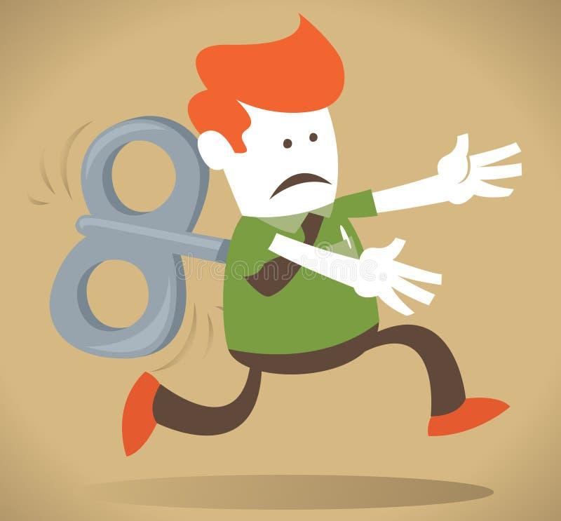 Download Retro Corporate Guy Works Like Clockwork. Stock Vector - Image: 23900827