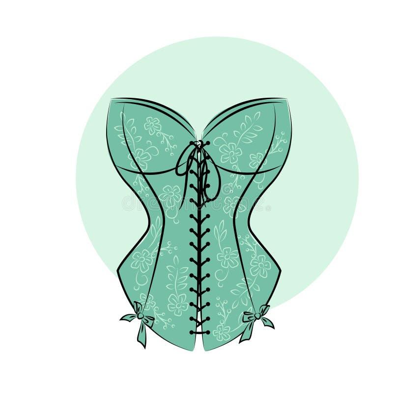 Retro corsetto della donna royalty illustrazione gratis