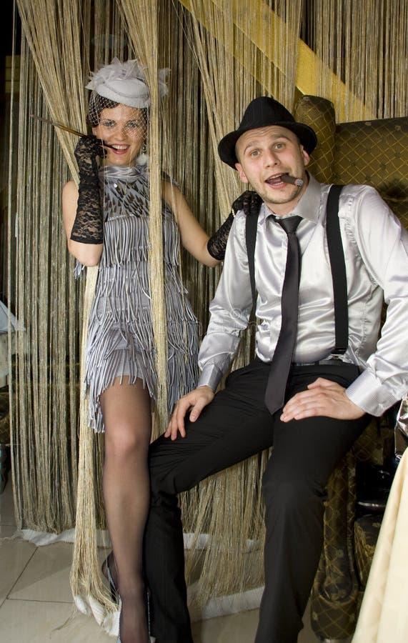 Retro Couple Royalty Free Stock Photo