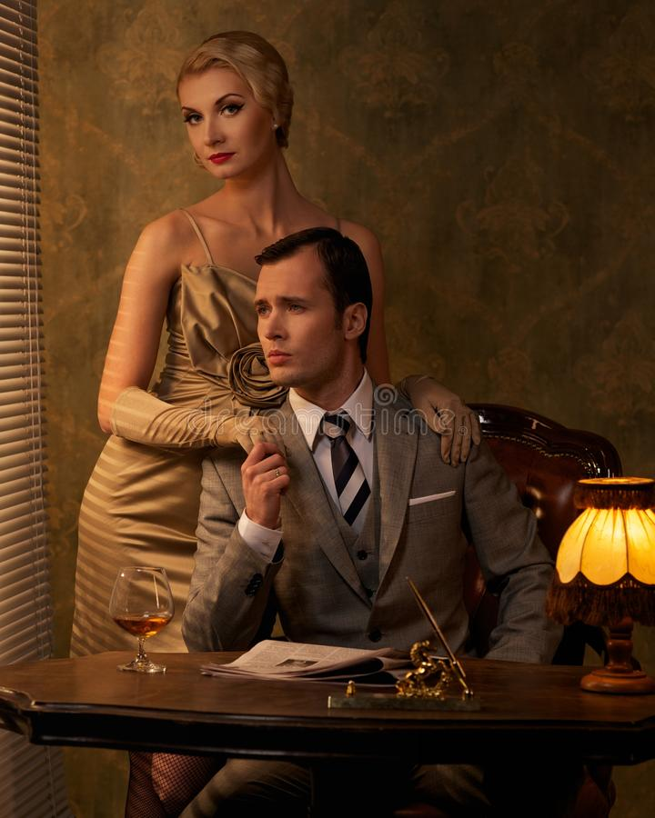 Download Retro couple stock photo. Image of finance, space, business - 26338818
