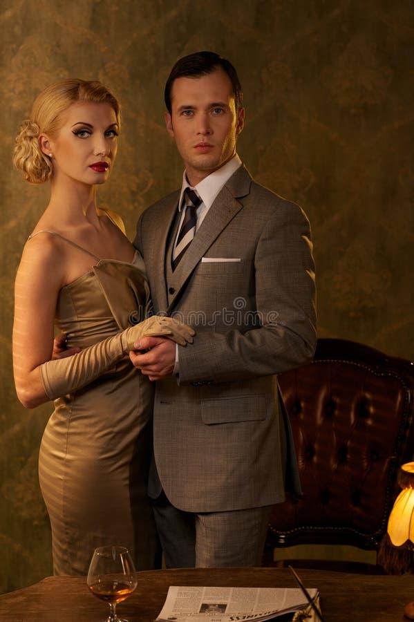 Download Retro couple stock photo. Image of people, money, female - 26338828